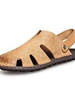 Zapatos de Hombre-Sandalias-Exterior / Oficina y Trabajo / Vestido / Casual / Deporte-Cuero de Napa-Negro / Marrón