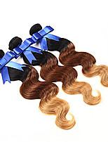 3pcs onda de la porción brasileña del pelo corporal ombre ombre haces armadura brasileña del pelo 1b / 4/27 # 7a ombre pelo virginal