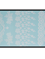 Lovely HENNA Lace Big White Face Sticker 09