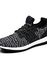 Синий / Белый / Черный и белый-Мужской-Для прогулок / На каждый день / Для занятий спортом-Ткань-На плоской подошве-Удобная обувь / С