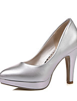 Women's Shoes Chunky Heel Heels / Pointed Toe Heels Dress Pink / Purple / White / Silver