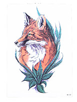 8PCS Hot Sale Waterproof Temporary Tattoo Sticker Red Fox Wolf Water Transfer Fake Women Men Body Arm Art Tattoo Design