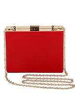 L.WEST Women's Fashion Simple Square Evening Bag