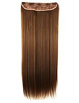 peluca de color marrón oscuro extensión 64cm longitud de alambre de alta temperatura cabello lacio pelo sintético