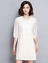 2016 Summer New Women's Sweet Retro Lace Beading Dress