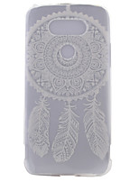 For LG Case Case Cover Transparent Pattern Back Cover Case Dream Catcher Soft TPU for LG