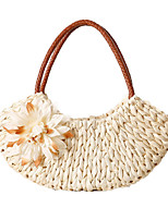 Fashion Woman Bag Shell-shaped Shoulder Bag Corn Husk Straw Bag Beach Bags Woven  Knitting Handbag Travel Bags