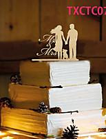 Tortenfiguren & Dekoration Nicht-personalisierte Klassisches Paar Harz Hochzeit Gelb Schmetterling 1 OPP
