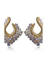 Noble Bright for Women Stud Earrings Flower Shape Sesign Cubic Zircon Earrings Evening Party Earring