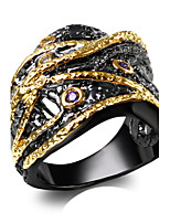 Free shipping 2016 Special Luxury Cubic Zirconia 18K Gold & Black Plated Fashion cocktail Rings for women