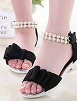 Girls' Shoes Outdoor / Dress PU Sandals Summer Comfort / Open Toe Black / Red