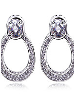 New Look bridal party earrings with Clear stone Lead Free Drop Fashion Earring Platinum Plated