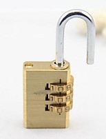 Cadeado para MalaForAcessório de Bagagem Metal Dourada 7.45*2.8*1.1