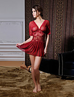 Women Sexy V Neck Backless Chemises & Gowns Nightwear,Nylon / Polyester