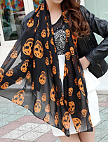 Skull Print Scarf Scarves Sunscreen Shawl Long Section Of Beach Towels