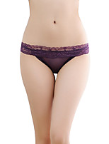 women's Sexy transparent mesh lace waist hip briefs