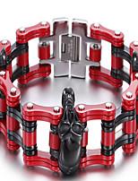 Bracciali a catena e maglie 1 pezzo,Rosso Bracciali Acciaio inossidabile Gioielli Da uomo