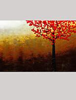 arbre rouge paysage abstrait moderne peinture à l'huile de couteau peint à la main sur toile un panneau prêt à accrocher