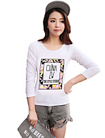 Women's Plaid White T-shirt,Round Neck ½ Length Sleeve
