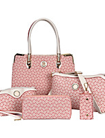 Women-Formal / Casual / Office & Career / Shopping-PU-Tote-White / Pink / Blue / Brown