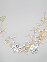 Women's / Flower Girl's Rhinestone / Alloy / Imitation Pearl Headpiece-Wedding / Special Occasion Headbands 1 Piece Gold Round