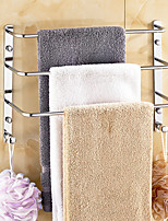 Mirror Polished finishing Brass Material 3 Bars Towel Rack