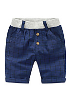 Summer Baby Boy Short Pant Suits Kids Cotton Plaid Children School Trousers Toddler Sport Shorts Brand Clothes