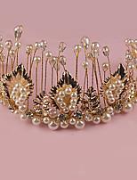 Women's Rhinestone / Brass / Alloy / Imitation Pearl Headpiece-Wedding / Special Occasion / Outdoor Tiaras 1 Piece
