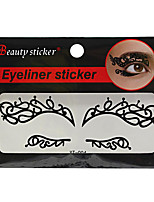 Abstract Fashion Lace Hollow Black Face Sticker YT-004