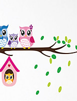 Animals OWL Wall Stickers Romance / Shapes / 3D Wall Stickers Plane Wall Stickers,pvc 20*60cm