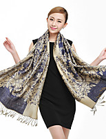 Ms. National Wind Long Section Of Cotton Jacquard Fringed Scarves