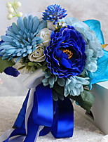 Handmade Blue Free-form Peonies Wedding Flowers Bridal Bouquets