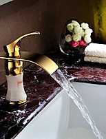 Fashion Single Handle One Hole in Ti-PVD  Bathroom Sink Faucet European Style