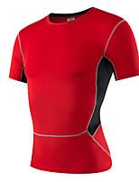 Hombres Carrera Camiseta Running Secado rápido / Capilaridad Blanco / Verde / Rojo / Gris / Negro / Azul Otros Ropa deportiva