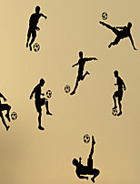 Soccer Football and Famous Soccer Players Wall Stickers Home Decor Wall Decal Sport  3D Wall Stickers