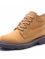 Men's Shoes Outdoor / Work & Duty / Athletic / Casual Leather Boots Brown / Yellow