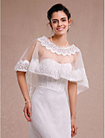 Wedding / Party/Evening / Casual Lace / Tulle Coats/Jackets Sleeveless