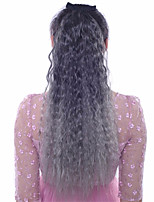 24 inch Ombre Color Corn Wave Fluffy Hair Synthetic Extension Ponytails