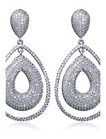 18K Gold and Platinum Plated Earrings for women Fashion Cubic Zirconia Party Bridal wedding Drop Earrings jewelery