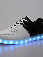 Men's Shoes PU Outdoor / Athletic / Casual Fashion Sneakers Outdoor / Casual / Athletic Flat Heel Lace-up Black / White