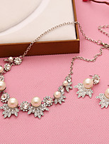 Women's Imitation Pearl / Alloy Jewelry Set Non Stone