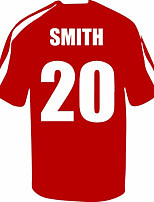 Personalised Name - Football Soccer Shirt Vinyl Wall Stickers Home Decor Wall Stickers For Kid's Rooms Many Colors