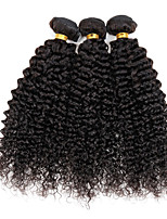 3 Pièces Kinky Curly Tissages de cheveux humains Cheveux Péruviens Tissages de cheveux humains Kinky Curly