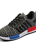 Men's Shoes Athletic/Casual Microfibre Fashion Sneakers Black/Blue/Dark Grey/Light Grey
