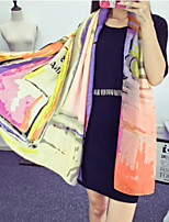 Fashion Perfume Bottle Pattern Printing Color Colorful Cotton Twill Scarf Shawl