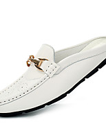 Men's Shoes Wedding / Office & Career / Party & Evening / Casual Nappa Leather Loafers Black / White