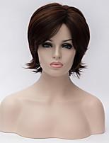 más vendido una peluca de cabello marrón oscuro vieja Europa y los Estados Unidos