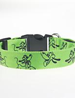 Hundar Halsband Justerbara/Infällbar / LCD / Tecknad design Röd / Grön / Blå / Rosa / Gul / Orange Nylon