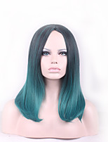 Black/Green Wigs For Black Women Ombre Wig Pelucas Pelo Natural Synthetic Wigs Hair Style Heat Resistant Cosplay Wigs Perruque
