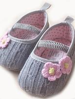 Zapatos de bebé-Planos-Exterior-Sintético-Gris